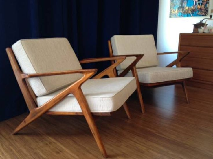 Amazing Mid Century Teak Lounge Chairs