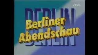 Berliner Abendschau Intro - vor dem Mauerfall