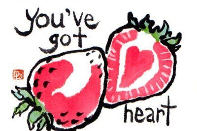 dosankodebbie's etegami notebook: feeling strawberry