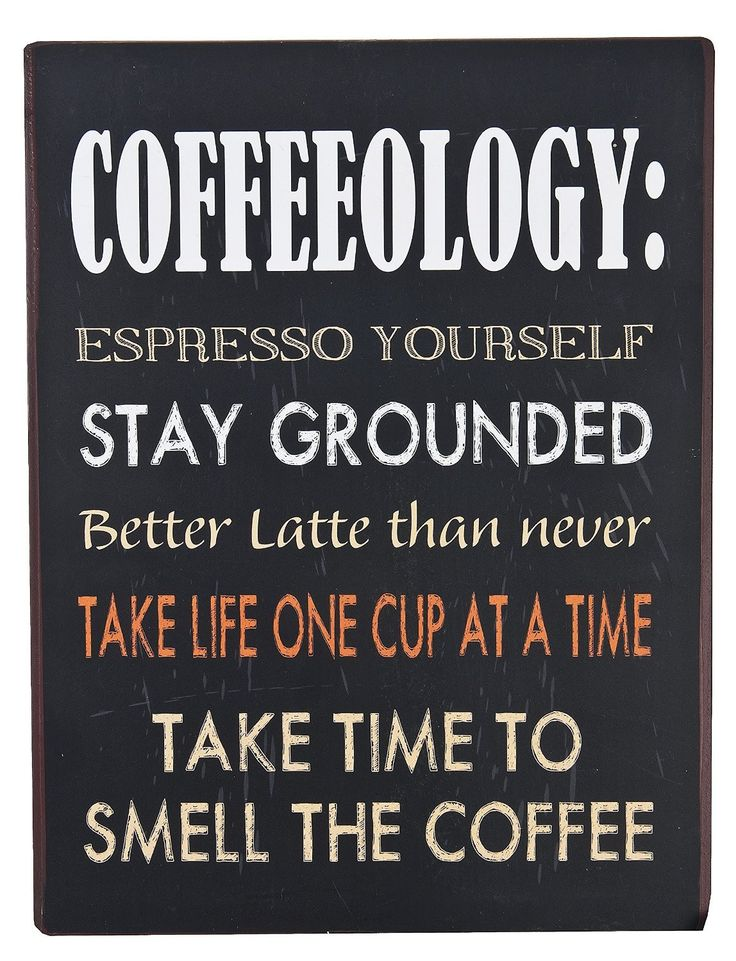 Ganz 'Coffeeology' Iron Wall Plaque