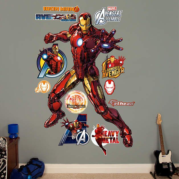 Fathead Avengers Iron Man Wall Graphic   Wall Sticker Outlet Part 63