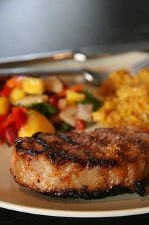 Chipotle Pork Chops with Mango Black Bean Salsa