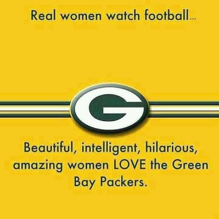 Real women. Football. Green Bay Packers