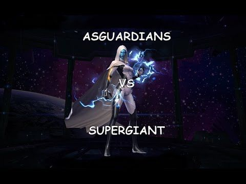 Marvel Future Fight: World Boss - T2 Asguardians vs Supergiant(full clear)  Bonus Content