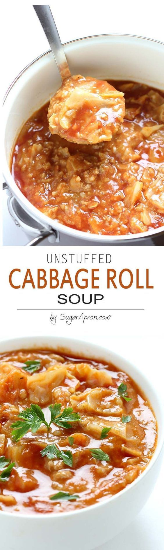 Comfort food on a cold winter's night, this Cabbage Roll Soup is faster alternative to traditional stuffed cabbage rolls, yet I can assure you that it tastes just as good.