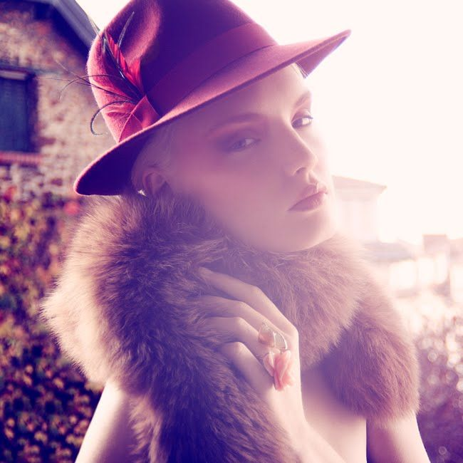 A hat to be special everyday... Wear your burgundy hat and let's have a glass of wine!  Mademoiselle Slassi (Paris)