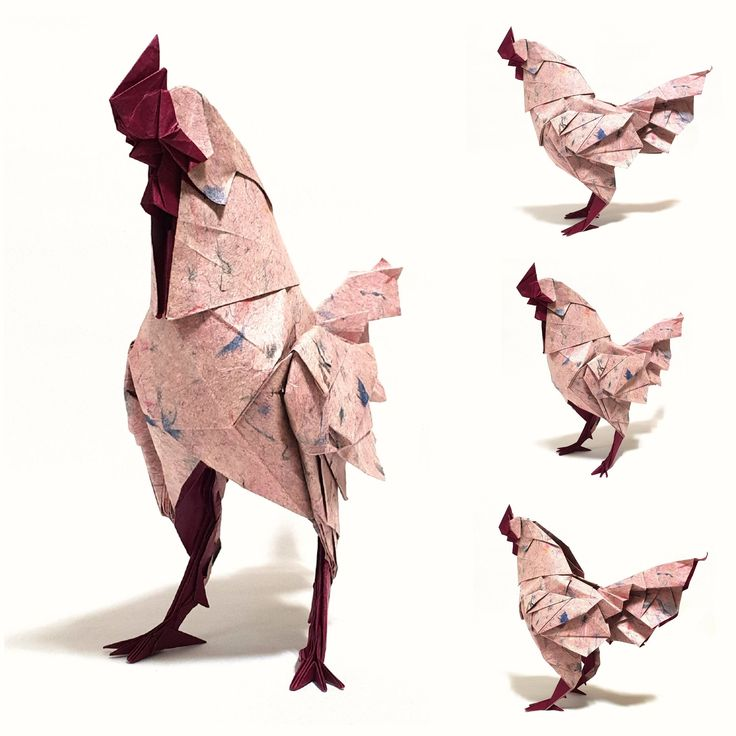 Петух оригами картинка