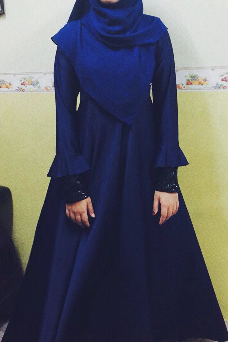 Hijab dress Eid dress Royal blue dress Long sleeve dress Islamic dress Islamic…
