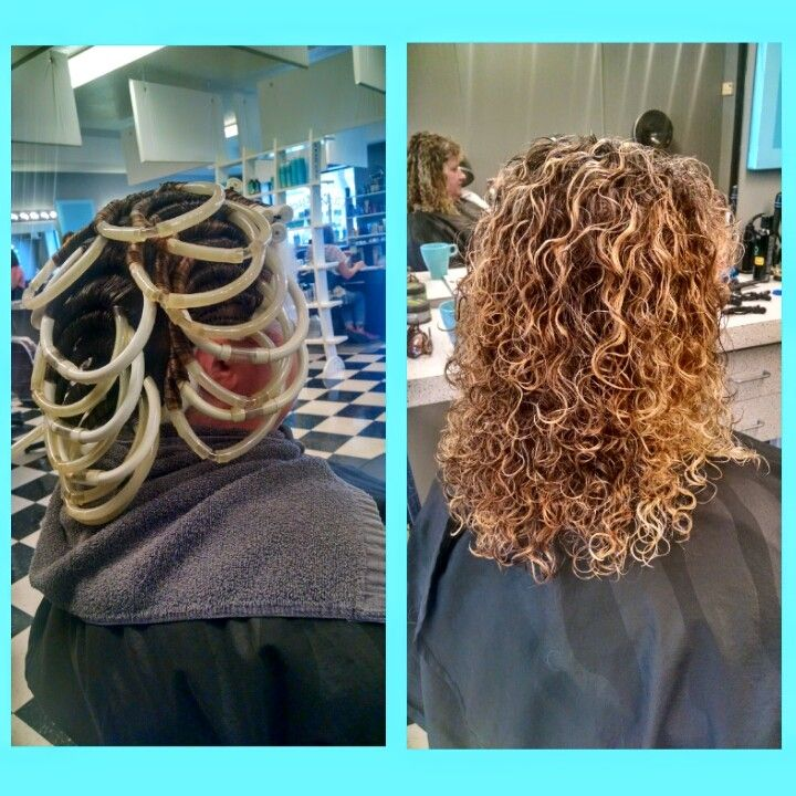 Spiral Perm On Boomerang Rods Hair Curly