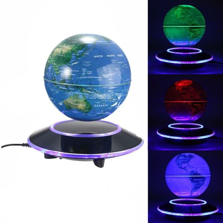 Creative World Map Magnetic Levitation Floating Globe Ornaments Bedroom Living Room Home Decor