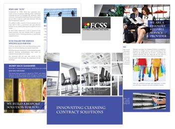 Brochure design for cleaning contract company