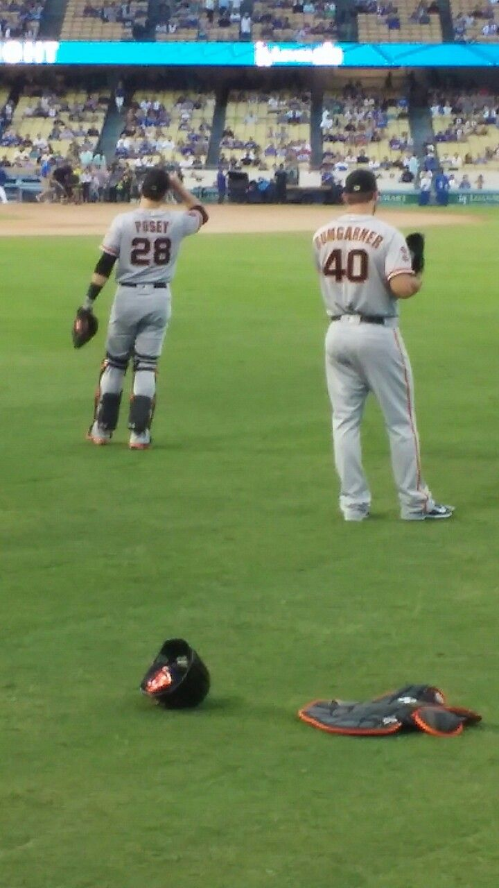 The dynamic duo of Posey & Bumgarner! 9/20/16  Dodgers Vs Giants #SFGiants