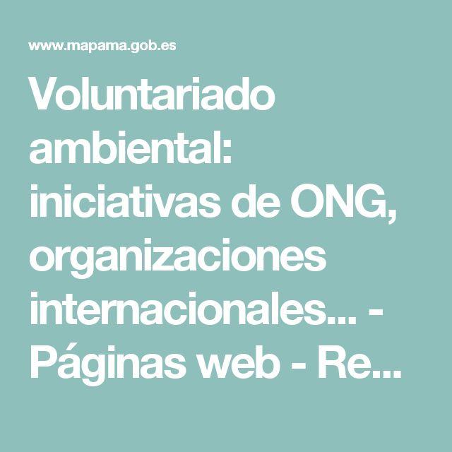 Voluntariado ambiental: iniciativas de ONG, organizaciones internacionales... - Páginas web -           Recursos - CENEAM - mapama.es