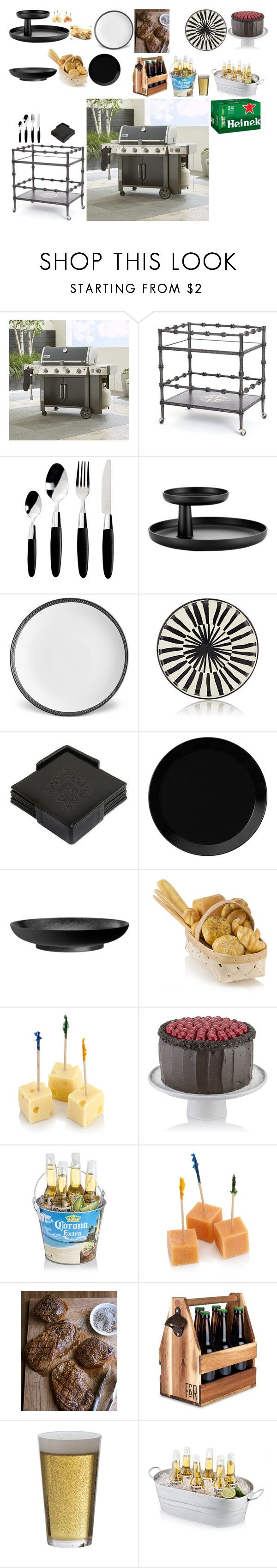 """Everything to do the barbecue"" by stylev ❤ liked on Polyvore featuring interior, interiors, interior design, home, home decor, interior decorating, Crate and Barrel, Global Views, Viners and Vitra"