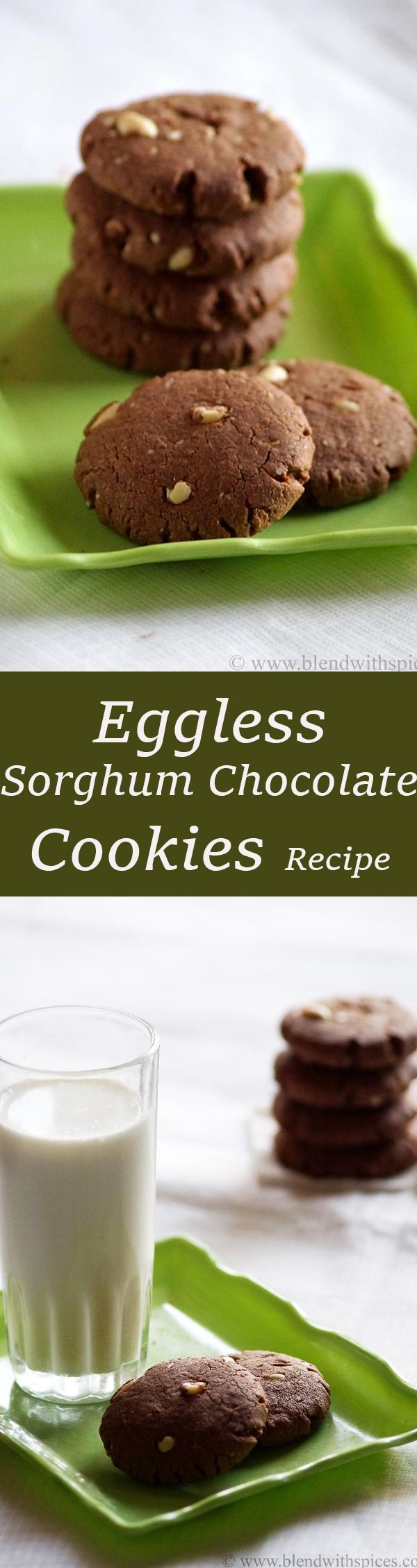 Eggless Sorghum (Jowar) Chocolate Peanut Cookies Recipe from blendwithspices.com…