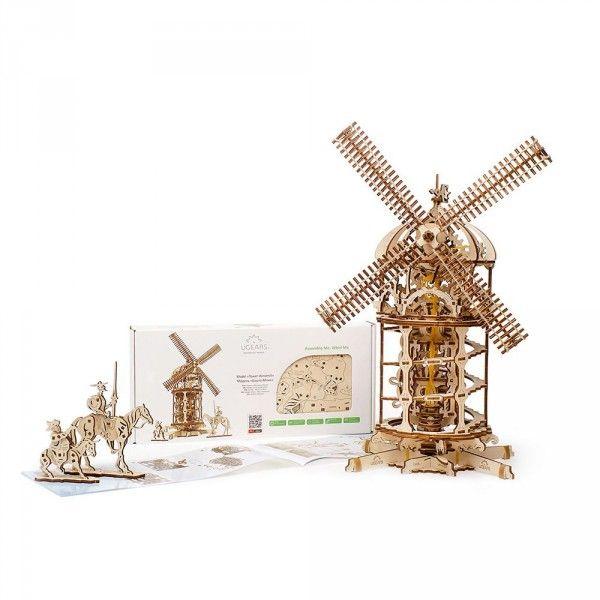 Moulin A Vent En Bois A Monter Le Moulin Bois Et Cadeaux Maestro