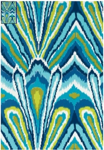 Ikat fabric: Trina Turk, Peacocks Prints, Outdoor Fabrics, Color, Indoor Outdoor, Textiles, Pools, Trinaturk, Pillows