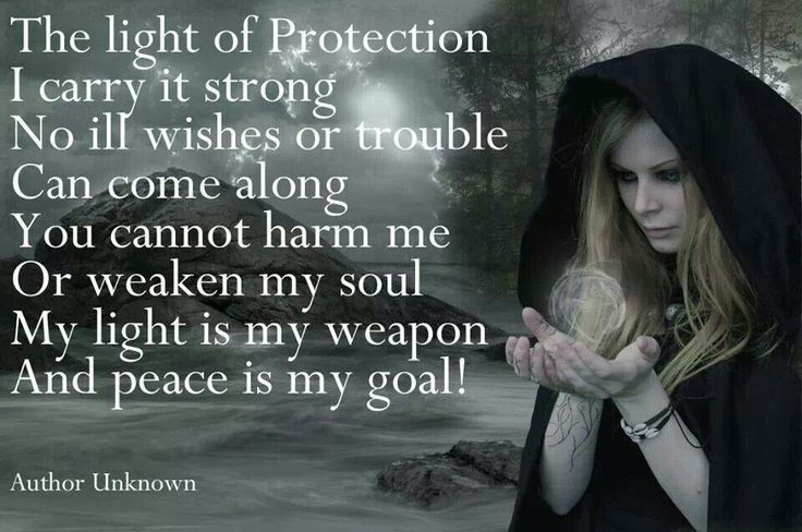 The light of protection I carry it strong...