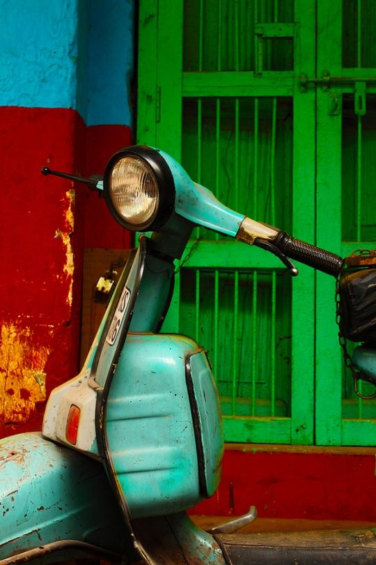 Dear Old Vespa #Retro Life #photography by shahjahan k Colorful Retro Photography