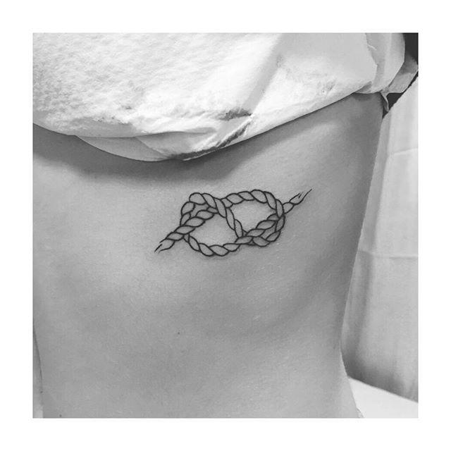 Rope outline tattoo #tats #tatts #tagsta #tattoo #tattoos #tattooed #teamtatt…