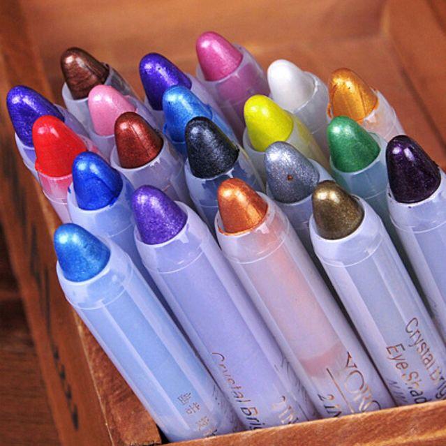 20 Colors Glitter Lip liner Eye Shadow Pencil Cosmetic Makeup Pen Eyeliner New  | eBay