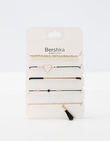 Set braccialetti neri e dorati - Accessori - Bershka Italia