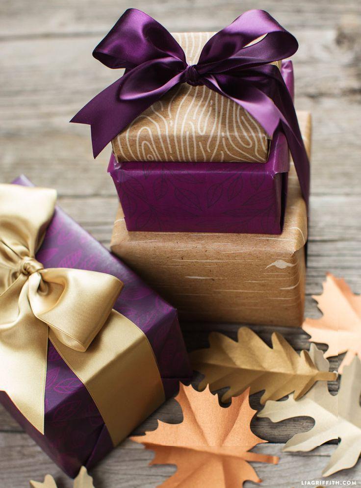 Fall Harvest Present Wrap