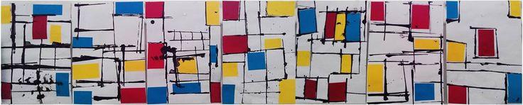 Dans l'univers artistique et géométrique de Mondrian - Mitsouko au CP