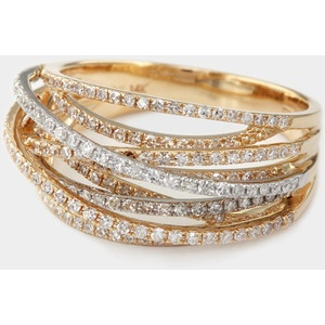 Lord and Taylor Effy Collection Stackable Yellow, Rose, and White Gold Rings.