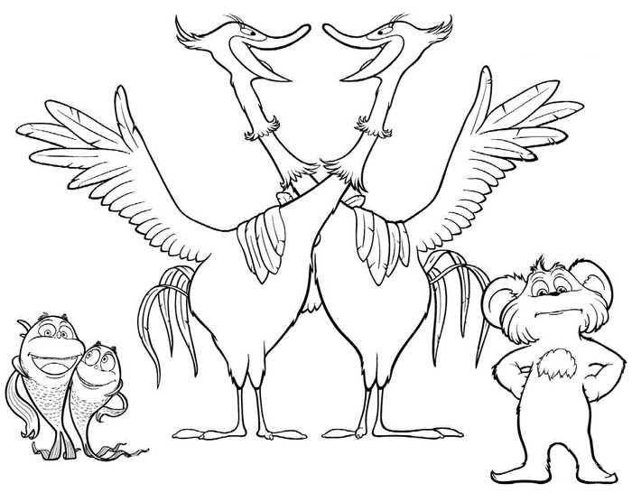 Lorax Coloring Pages Printable Free Coloring Sheets Fish Coloring Page Cartoon Coloring Pages Coloring Pages