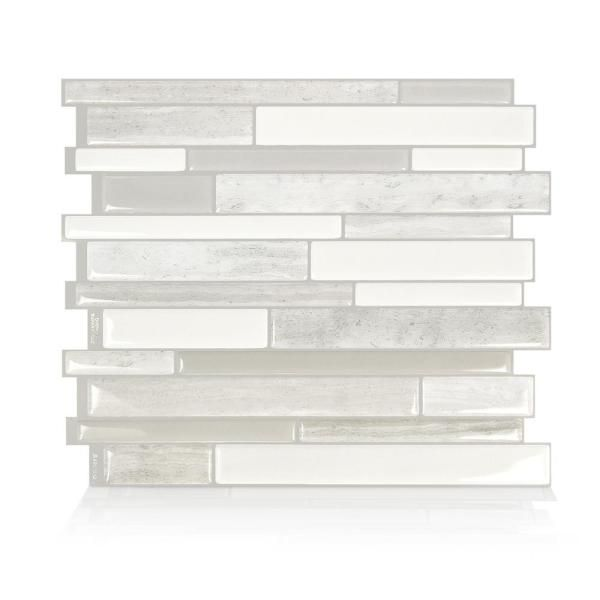 Smart Tiles Milano Fabrini 11 55 In W X 9 63 In H Taupe Peel And Stick Decorative Mosaic Wall Tile Backsplash 4 Pack Sm1104d 04 Qg With Images Smart Tiles Mosaic Wall Tiles Decorative Tile Backsplash