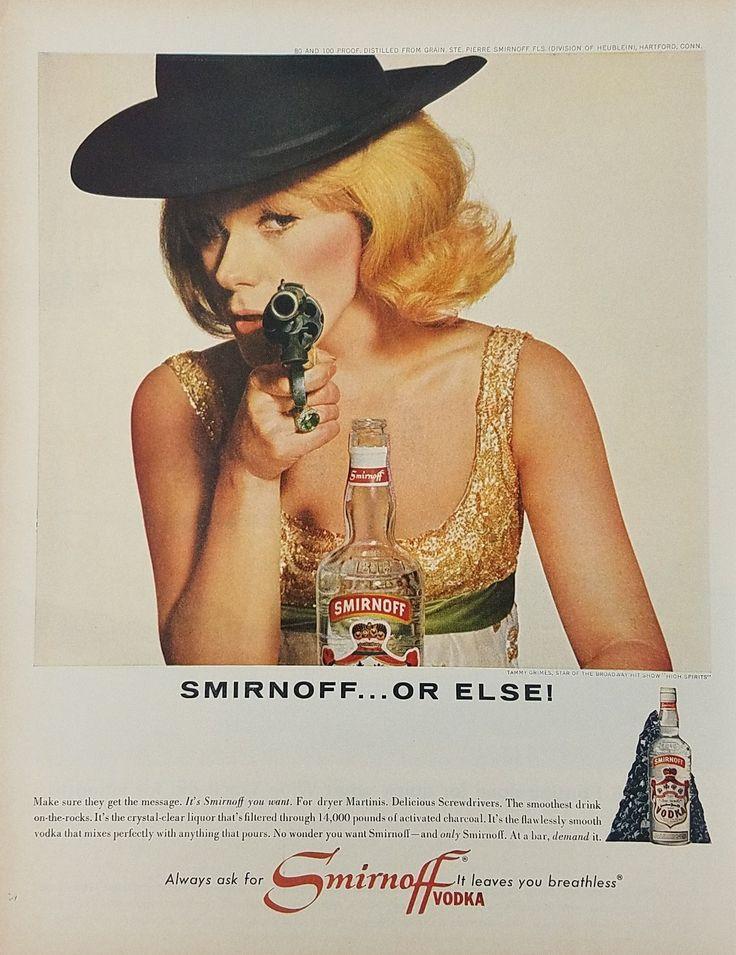 1965 Smirnoff Vodka Or Else Vintage Ad