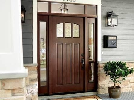 Best 25 entry door with sidelights ideas on pinterest for Home depot front doors with sidelights