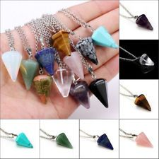 13 Styles Multicolor Crystal Healing Natural Stone Quartz Pendant Necklace Gift