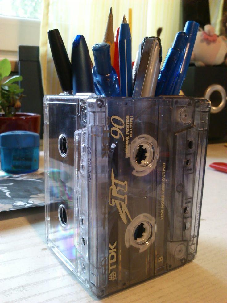 Oldschool casette pencilbox