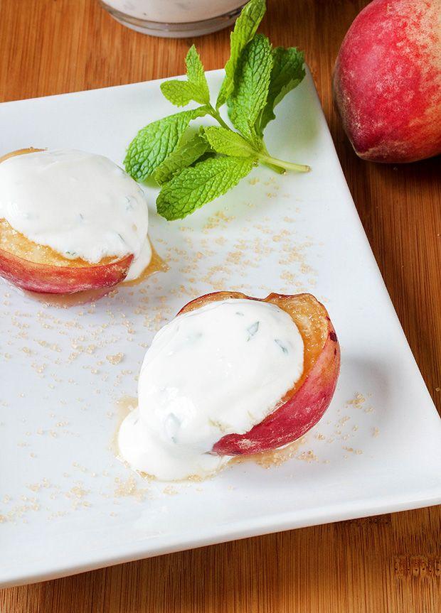Baked Peaches and Cream Recipe