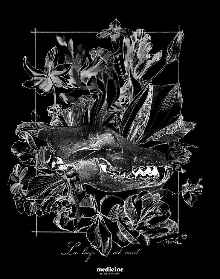 Tomek Sadurski for Medicine print on ladies and men's t-shirt