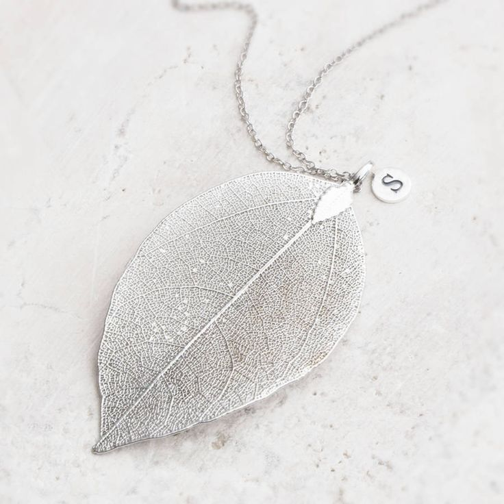 caitlan personalised leaf pendant necklace by bloom boutique | notonthehighstreet.com