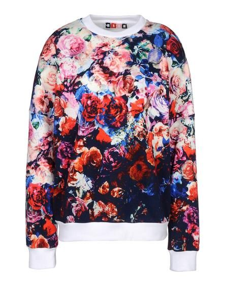 Floral sweatshirt by Italian contemporary brand MSGM.