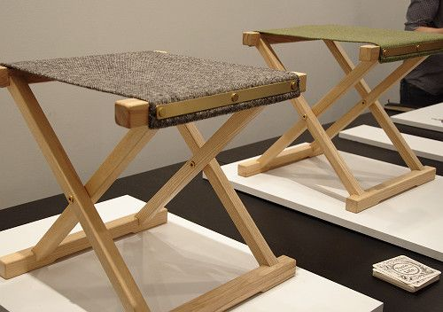 simple and beautiful folding stools by colin wilson