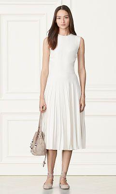 Clara Pleated Dress - Collection Apparel Midi - RalphLauren.com