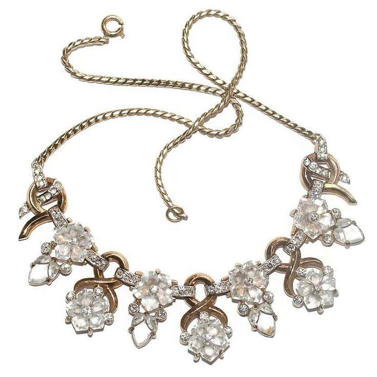Sold - Trifari Dewdrops Necklace 1940s Ad Pc Bk Pc