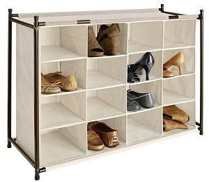 canvas shoe cubby
