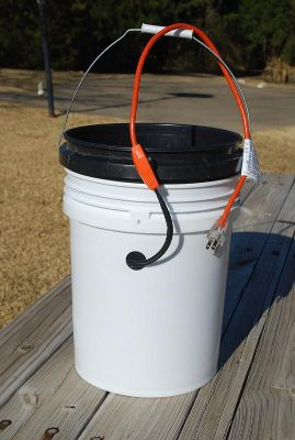 Heated chicken bucket waterer - Works awesome! -10 below and still not frozen :)