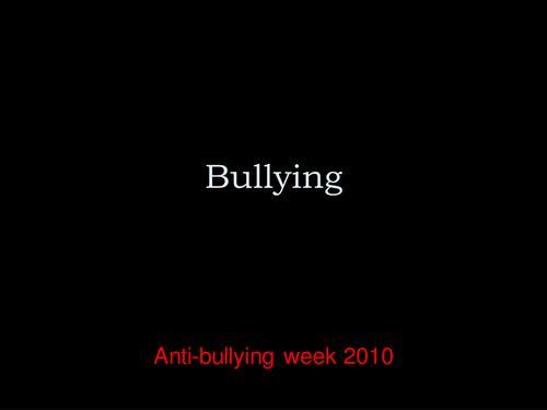 "Bullying PPT  ""Antibullying lesson"" ""elementary"""