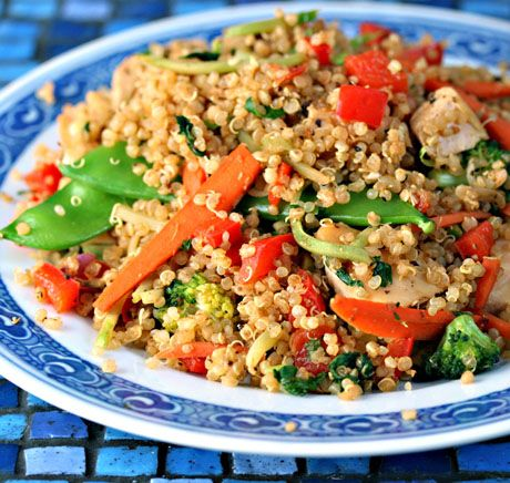 Chicken and Vegetable Quinoa Stir-Fry