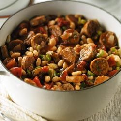 Italian Sausage and White Bean Stew: Recipe from Diabetes Forecast® - For the complete recipe, simply click on the photo. ENJOY!