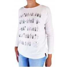 Zuma Jay Ladies Huts Long Sleeve T-Shirt White