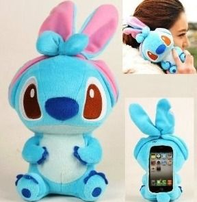 funda iphone 4, 4s, stich peluche oso panda mujer kawaii gra