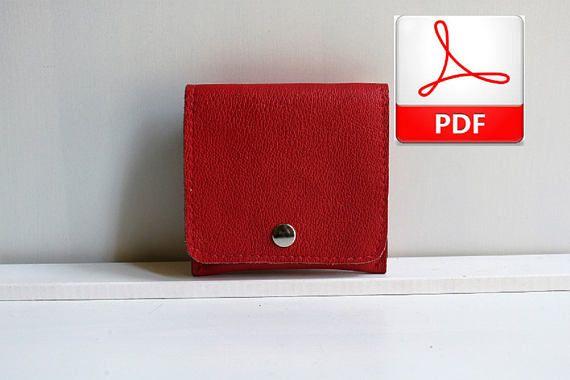 Patrón Cartera de Cuero, DIY Cartera de Cuero Tutorial www.nurimupatterns.etsy.com
